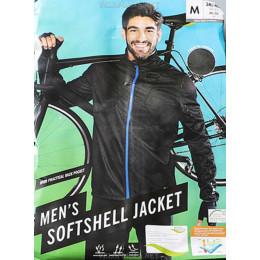 Джерси утеплённая велосипедная Softshell чёрная
