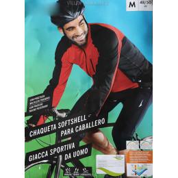 Велокуртка ветрозащитная Crivit Softshell чёрно-красная