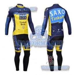 Утепленная велоформа Saxo bank tinkoff 2013 с лямками