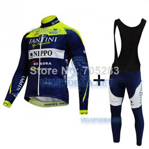 Утепленная велоформа Fantini 2014 синяя