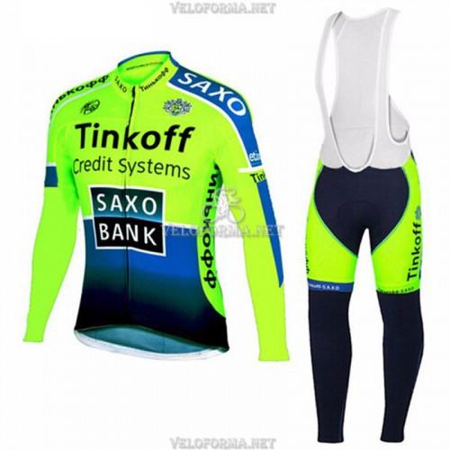 Утепленная велоформа Saxo Bank 2014-2 Tinkoff с лямками