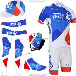 Комплект велоформы FDJ 2015-1 (6 деталей)