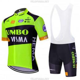 Велоформа Jumbo-Visma 2020 зелёная