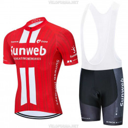 Велоформа Sunweb 2020 красная