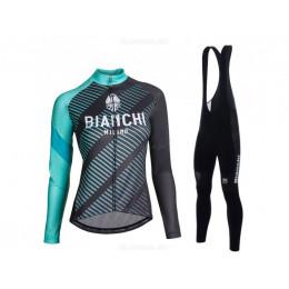 Утепленная велоформа Bianchi 2017 женская с лямками