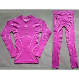 Термобелье женское с компрессионным эффектом Crane розовое