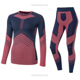 Термобелье женское для спорта красное Pro Ski 2020, костюм