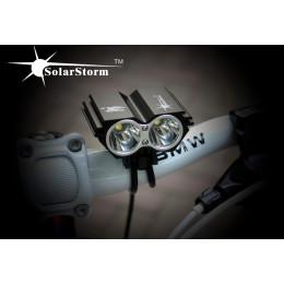 Велофара SolarStorm 2*XM-L U2. 2000 люмен