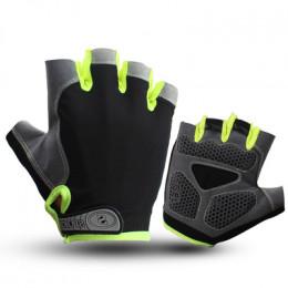 Велосипедные перчатки RG зеленые