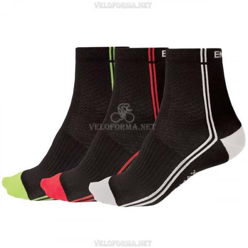 Велосипедные носки Endura Coolmax Stripe II, 3 пары